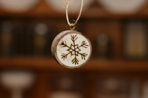 Maple Wood Etched Ornament